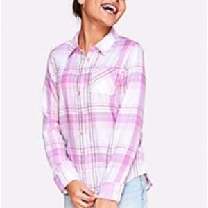 Justice Plaid button up shirt
